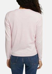 edc by Esprit - CORE ROUND NECK CARDIGAN - Cardigan - light pink - 4