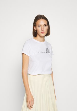 CAT PRINTED - T-shirt print - white