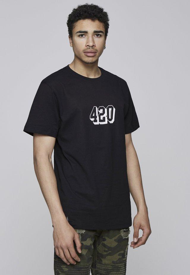 TWENNY TEE - T-shirt imprimé - blk/wht