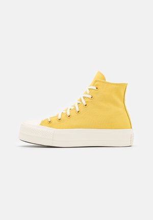 CHUCK TAYLOR ALL STAR MIX RECYCLED PLATFORM - Sneakers hoog - saturn gold/egret