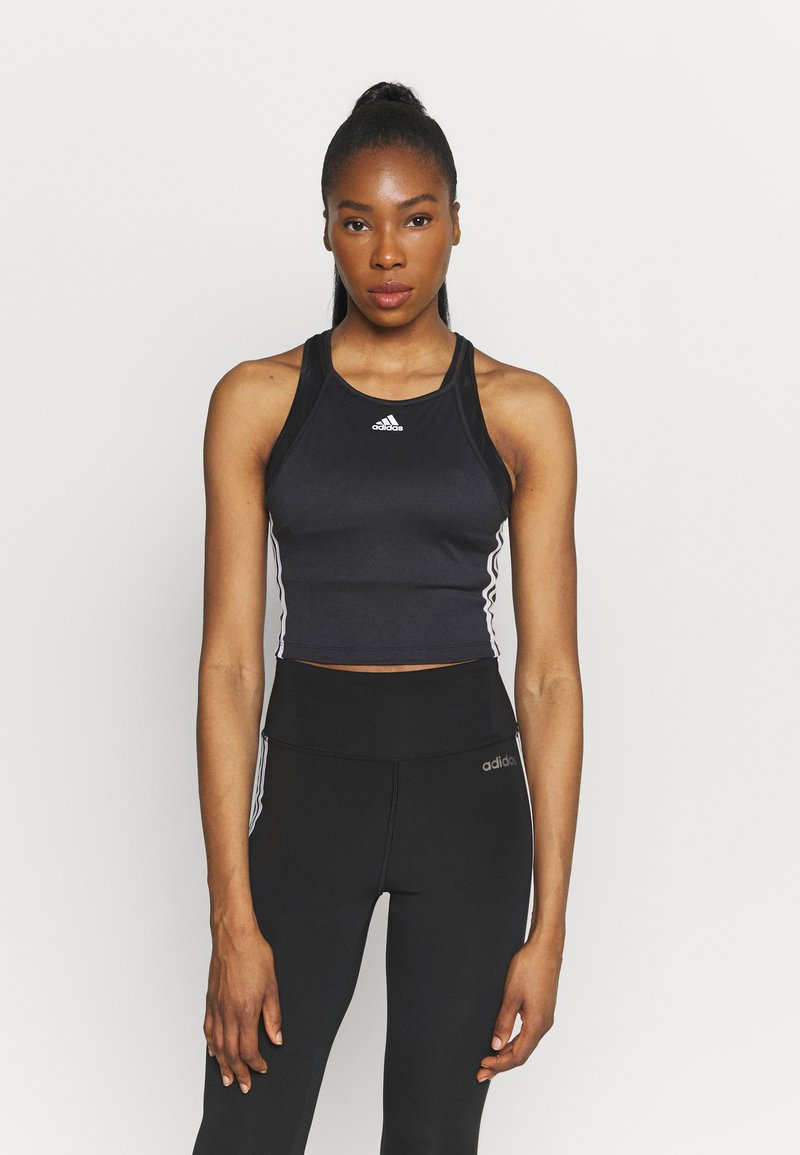 adidas Performance - TANK - Top - black/white