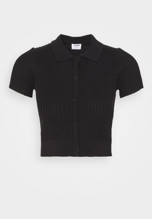 BUTTON ME UP POLO - Basic T-shirt - black