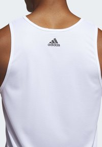 adidas Performance - SPORT 3 STRIPES TANK - Camiseta de deporte - white - 5