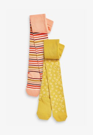 2 PACK  - Over-the-knee socks - ochre/pink
