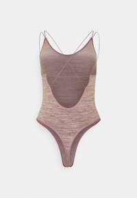 BDG Urban Outfitters - STRAPPY BACK THONG BODYSUIT - Top - purple space dye - 1