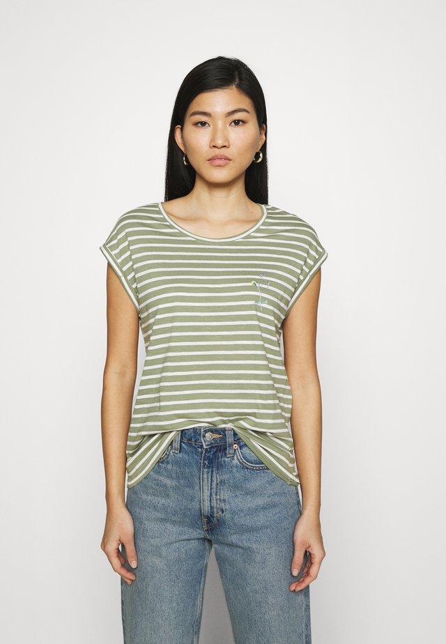 TEE - T-shirt con stampa - light khaki