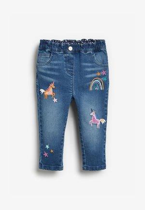 PULL-ON  - Straight leg jeans - blue