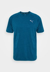 Puma - HEATHER TEE - T-shirt basic - digi-blue heather - 4