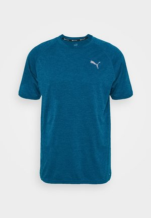 HEATHER TEE - Basic T-shirt - digi-blue heather
