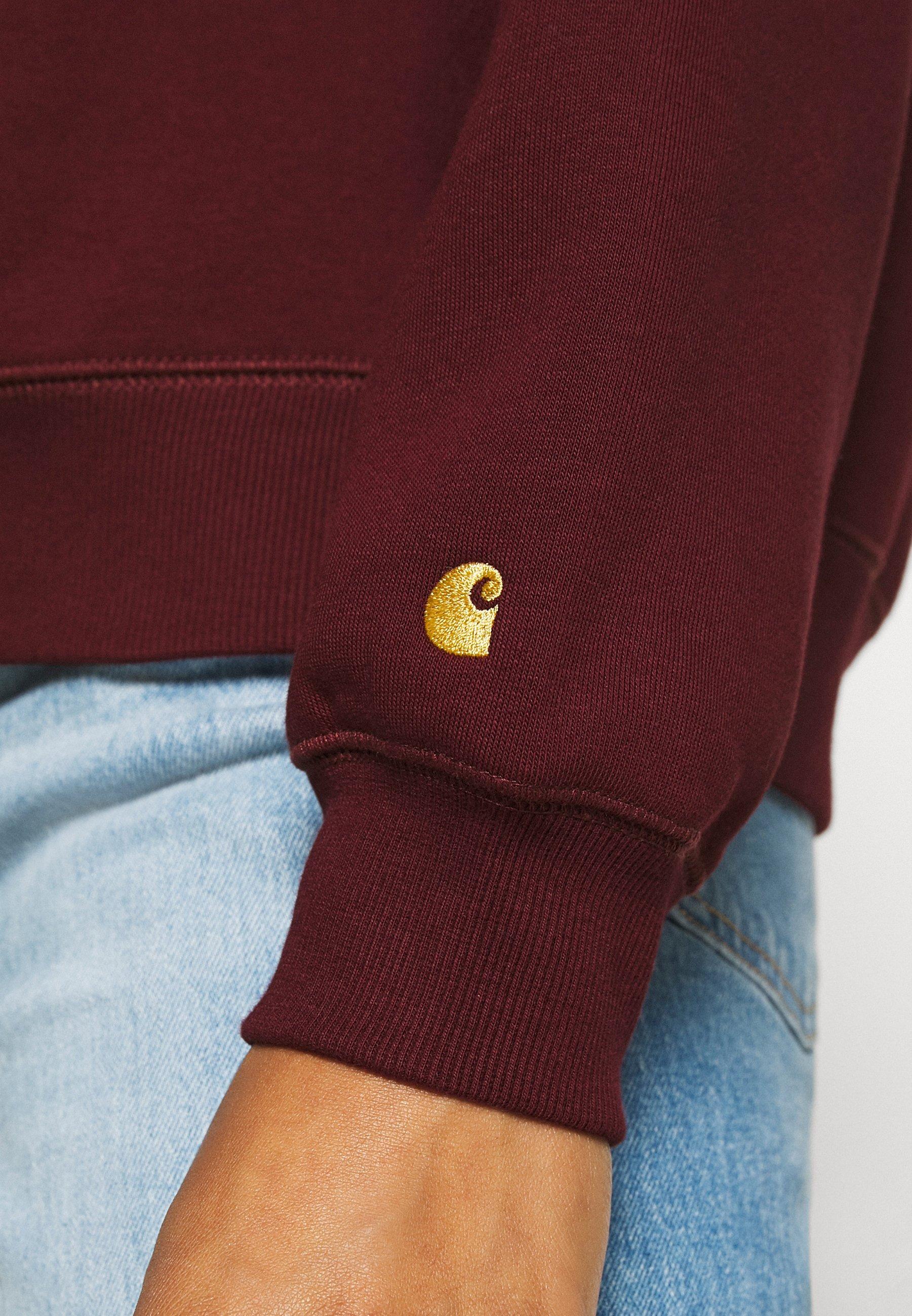 Exclusive Low Cost Women's Clothing Carhartt WIP CHASE Sweatshirt bordeaux/gold Fl0L0jG67 lO9EWKFZ9