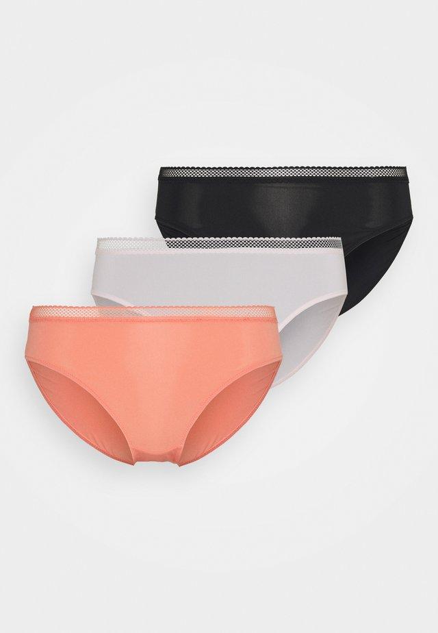 ZANNA 3 PACK - Alushousut - coral/black/pink