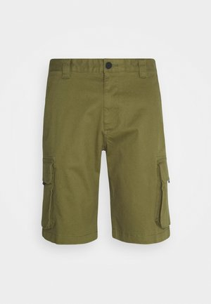 WASHED CARGO - Short - uniform olive