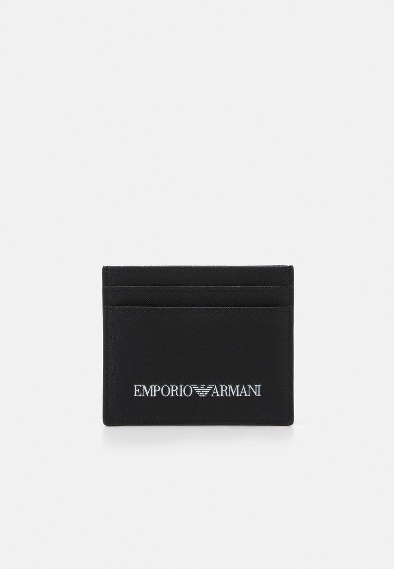 Emporio Armani - CARD HOLDER - Peněženka - black
