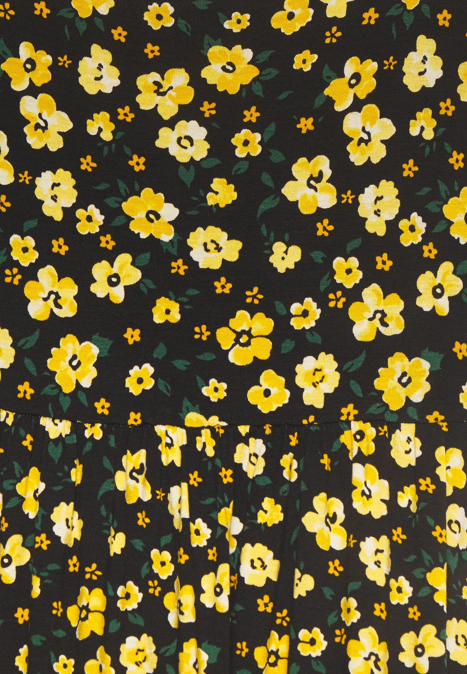 Dorothy Perkins DITSY RUFFLE STRAP DRESS - Robe longue - black - Robes femme 6052b
