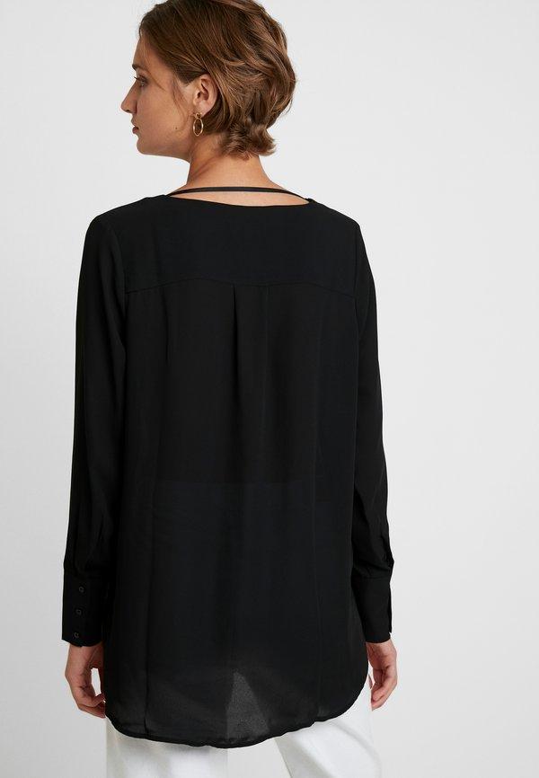 Selected Femme SLFSTINA DYNELLA - Bluzka - black/czarny VETL