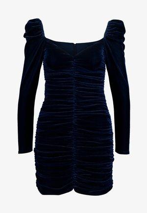 NEVA RUCHED DRESS - Pouzdrové šaty - midnight blue