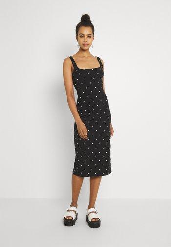QUINN DRESS - Jersey dress - black