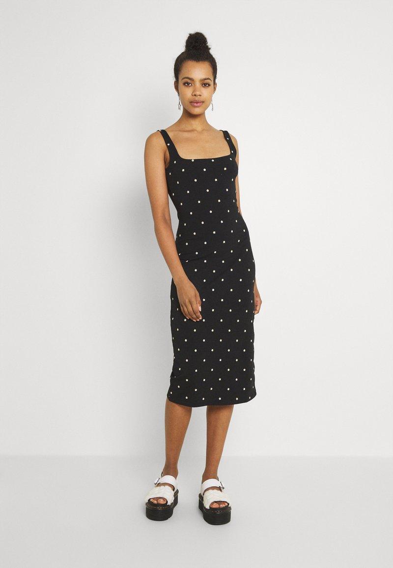 EDITED - QUINN DRESS - Jersey dress - black