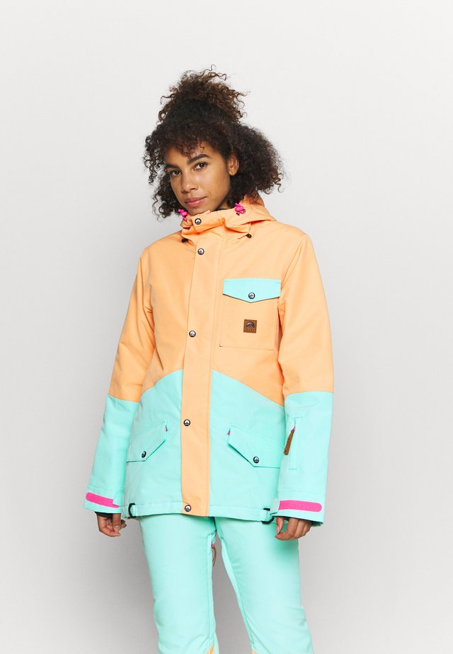 1080 WOMEN'S JACKET  - Laskettelutakki - mint/peach