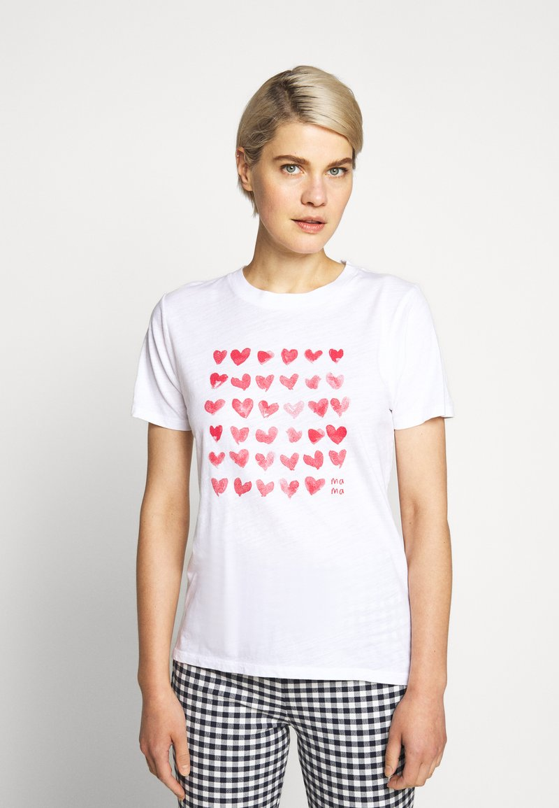 J.CREW - MOTHERS DAY TEE - Print T-shirt - white