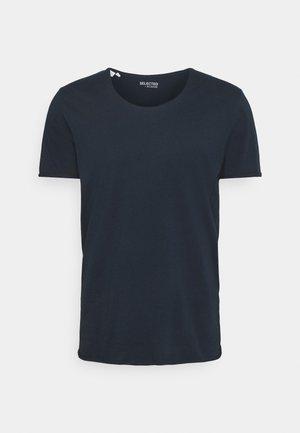 SLHWYATT O NECK TEE  - Basic T-shirt - navy blazer