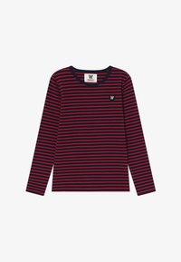 navy/red stripes
