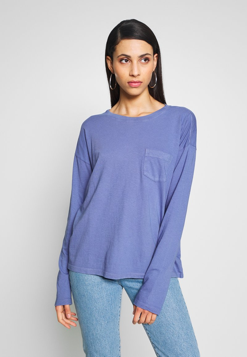 Gap Tall - AUTH BOXY TEE - Long sleeved top - larkspur