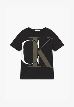 EXPLODED MONOGRAM - Triko s potiskem - black