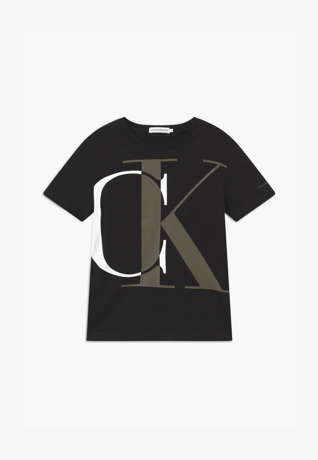 EXPLODED MONOGRAM - Print T-shirt - black