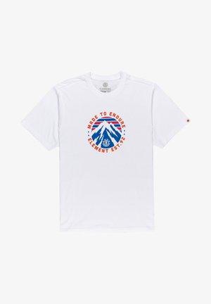 LYMONT - Print T-shirt - optic white
