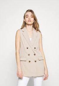 ONLY - ONLIVY WAISTCOAT  - Waistcoat - beige - 0