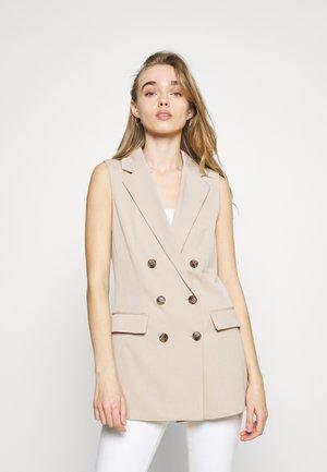 ONLIVY WAISTCOAT  - Waistcoat - beige