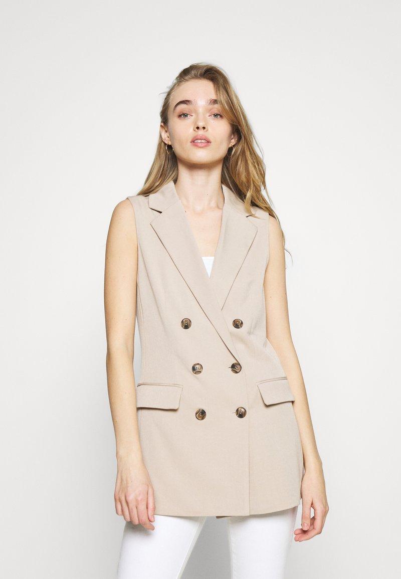 ONLY - ONLIVY WAISTCOAT  - Waistcoat - beige