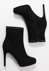 Nly by Nelly - STUDDED PLATFORM BOOT - High heeled ankle boots - black - 3