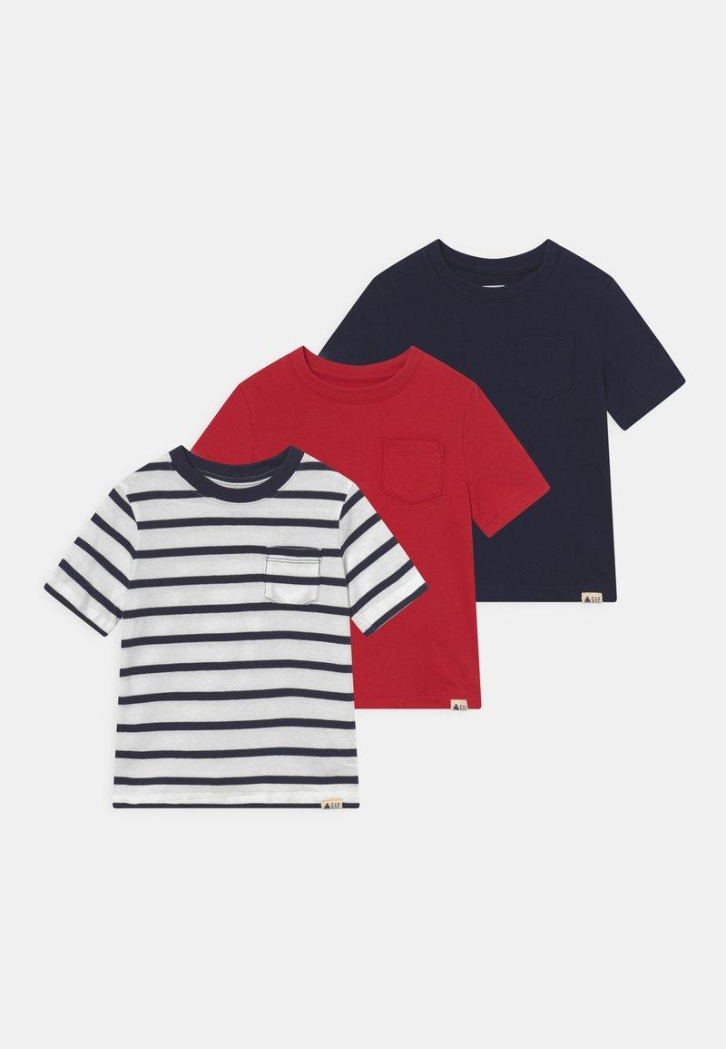 GAP - ORGANIC 3 PACK - T-shirts print - modern red