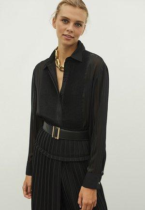 TRANSPARENT - Button-down blouse - black
