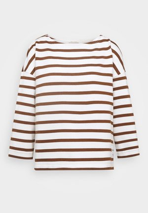 Long sleeved top - multi/chestnut brown