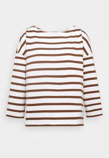 Long sleeved top - multi/chestnut brown