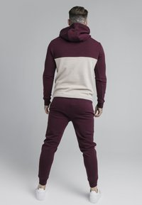 SIKSILK - CUT AND SEW OVERHEAD HOODIE - Hoodie - wine/cream - 2
