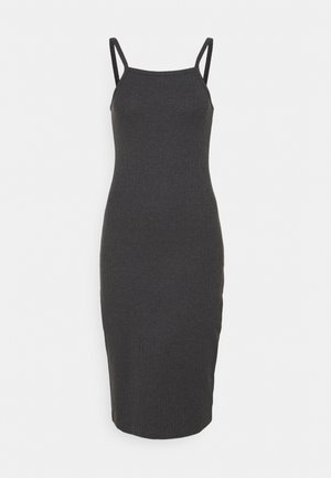 Jersey dress - mottled dark grey