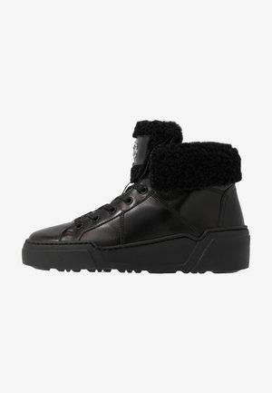 PARIS  - High-top trainers - black