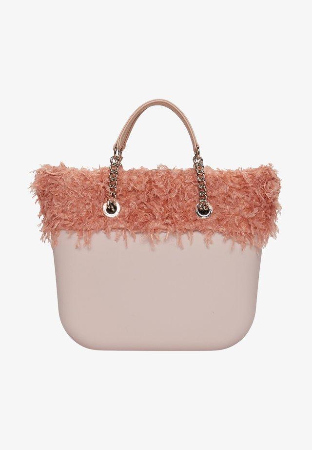 Shopping bag - mottled light pink/salmon