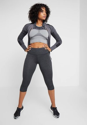 ACTIVE CORE CAPRI - 3/4 sports trousers - charcoaly