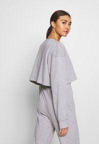 Missguided - ZIP FRONT CROPPED  SLIM LINE SET - Tracksuit - grey - 3