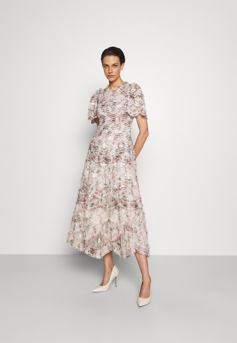 Needle & Thread - LUNETTE FLORAL SWAN ANKLE GOWN - Occasion wear - moonshine