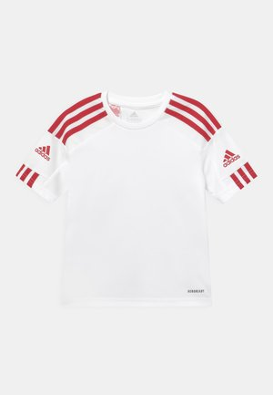 SQUAD UNISEX - T-shirt z nadrukiem - white/team power red