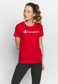 Champion - CREWNECK - T-shirt z nadrukiem - red - 0