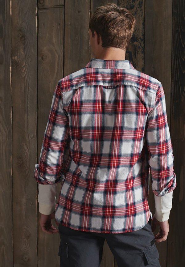Superdry CLASSIC LUMBERJACK - Koszula - red ensign check/czerwony Odzież Męska ZODF