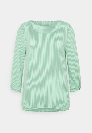 VERTICAL STRIPE - Blouse - green/white