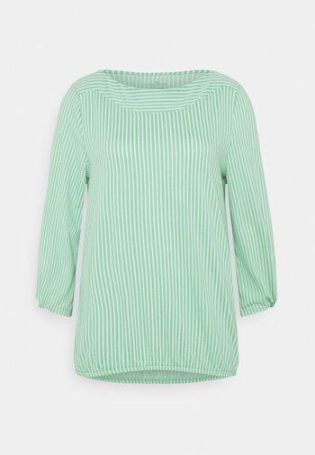 VERTICAL STRIPE - Bluser - green/white